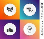 modern  simple vector icon set... | Shutterstock .eps vector #1115547338