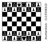 chessboard and chess pieces... | Shutterstock .eps vector #1115548310