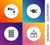 modern  simple vector icon set... | Shutterstock .eps vector #1115549384