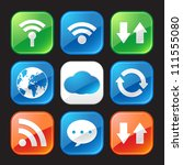 connect to the internet icons | Shutterstock .eps vector #111555080