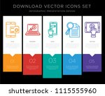 5 vector icons such as... | Shutterstock .eps vector #1115555960