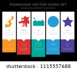 5 vector icons such as gps ... | Shutterstock .eps vector #1115557688