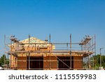 a new house is being built  a... | Shutterstock . vector #1115559983