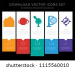 5 vector icons such as river ... | Shutterstock .eps vector #1115560010