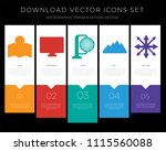 5 vector icons such as map  gps ... | Shutterstock .eps vector #1115560088