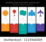 5 vector icons such as earth ... | Shutterstock .eps vector #1115560304