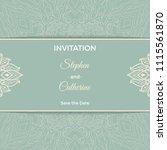 save the date invitation card... | Shutterstock .eps vector #1115561870
