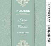 save the date invitation card... | Shutterstock .eps vector #1115561879
