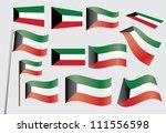 set of flags of kuwait...   Shutterstock . vector #111556598