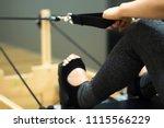 pilates machine fitness and... | Shutterstock . vector #1115566229