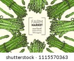 asparagus vector illustration.... | Shutterstock .eps vector #1115570363