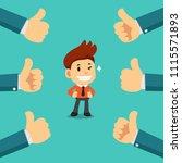 vector cartoon happy... | Shutterstock .eps vector #1115571893
