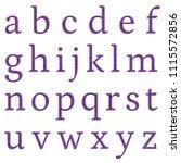 distressed purple metal classic ... | Shutterstock . vector #1115572856