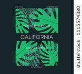 california t shirt typography... | Shutterstock .eps vector #1115574380