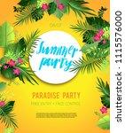 yellow summer poster   Shutterstock .eps vector #1115576000