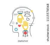 empathy vector illustration... | Shutterstock .eps vector #1115578568