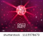 disco party background. music... | Shutterstock .eps vector #1115578673