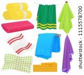 cartoon funny vector towels.... | Shutterstock .eps vector #1115578700