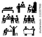 gambling casino people man host ... | Shutterstock . vector #111557900