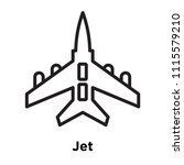 jet icon vector isolated on... | Shutterstock .eps vector #1115579210