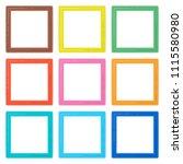 set of colorful wooden frames.... | Shutterstock .eps vector #1115580980