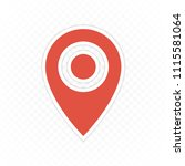 pin map navigation icon.... | Shutterstock .eps vector #1115581064