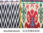traditional uzbek asian silk.... | Shutterstock . vector #1115581424