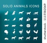 set of 25 universal solid... | Shutterstock .eps vector #1115582069