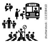 student pupil children back to...   Shutterstock .eps vector #111558410
