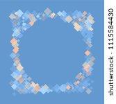 rhombus blue minimal geometric...   Shutterstock .eps vector #1115584430