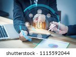 iot. internet of thing concept. ... | Shutterstock . vector #1115592044