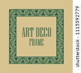 vintage art deco ornamental... | Shutterstock .eps vector #1115592779
