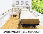 empty single hospital room.... | Shutterstock . vector #1115598050
