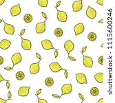 seamless pattern with yellow... | Shutterstock .eps vector #1115600246