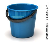 blue bucket isolated on white... | Shutterstock . vector #111560174