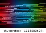 binary circuit board future... | Shutterstock .eps vector #1115603624