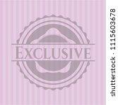 exclusive retro pink emblem | Shutterstock .eps vector #1115603678