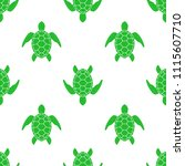 vector pattern with sea turtle. ... | Shutterstock .eps vector #1115607710