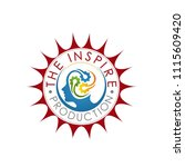 the inspire production red logo | Shutterstock .eps vector #1115609420
