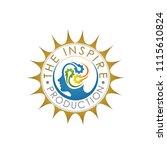 the inspire production gold logo | Shutterstock .eps vector #1115610824