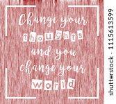 awesome  quote. unique design.  | Shutterstock . vector #1115613599