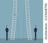 risk in career promotion... | Shutterstock .eps vector #1115628740