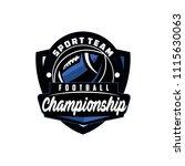 vector american football logos... | Shutterstock .eps vector #1115630063
