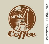 coffee cafe logo template | Shutterstock .eps vector #1115632466