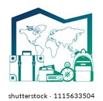 world paper map with set... | Shutterstock .eps vector #1115633504