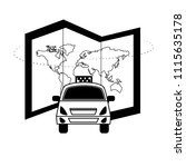 travel taxi car map world... | Shutterstock .eps vector #1115635178