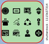 simple 12 icon set of business...   Shutterstock .eps vector #1115637314