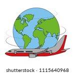 airplane transport travel... | Shutterstock .eps vector #1115640968
