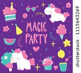 magic party icon. kids birthday ... | Shutterstock .eps vector #1115643269