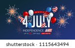 independence day usa sale... | Shutterstock .eps vector #1115643494